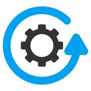 Gearwheel Rotation Direction Flat Icon Stock Illustration