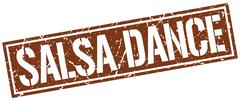 Salsa dance square grunge stamp Piirros