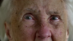 Portrait Of A Hundred Years Old Woman, Centenarian Stock Footage