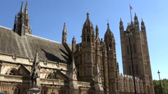 Great Britain England London north side of church Westmister Abbey Stock Footage