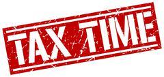 Tax time square grunge stamp Stock Illustration