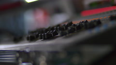 Rack Focus On A DJ's Mixer At A Big Event, Convention Stock Footage