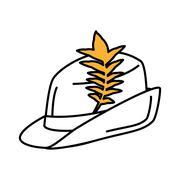 Irish hat isolated icon Stock Illustration