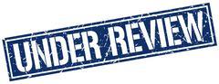 Under review square grunge stamp Stock Illustration