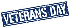 Veterans day square grunge stamp Stock Illustration