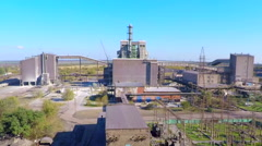 The industrial enterprise on a background of sky Stock Footage