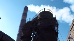 The structure of the steel plant Stock Footage