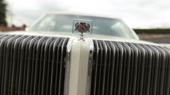 Old -fashioned car close up Stock Footage