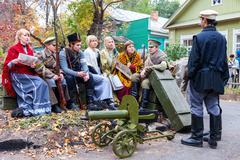 Russian Civil War against Bolshevik authorities Stock Photos
