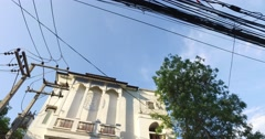 4k - european style building in nimman soi Stock Footage