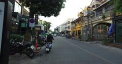 4k walking tour - nimman soi chiang mai at sunset Stock Footage