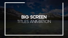 Big Screen Text Titles Animation Pack - Clean & Simple Full HD Screen Line Texts Stock After Effects