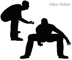Man in Hero Action pose Piirros