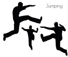 Man in  Jumping  Action pose Stock Illustration