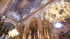 Beautifull church inside close up Stock Footage