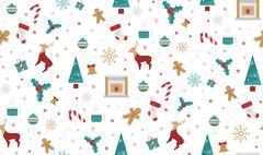 Bright Christmas chuck for fabric Stock Illustration