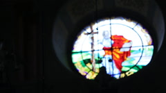 Beautifull church inside close up Stock Footage