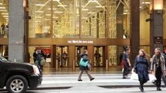 MetLife Building Entrance Midtown Manhattan Stock Footage
