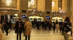 Commuters Main Concourse Grand Central Terminal Stock Footage