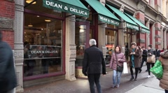 Dean and Deluca Soho New York Stock Footage
