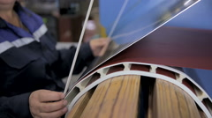 Electric transformer production on a electric modern factory equipment. Slider Arkistovideo