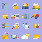 Archive Icons Set Piirros