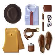 Men Wear Concept Stock Illustration