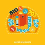 Big Sale Shopping Composition Stock Illustration