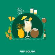 Cocktail Recipe Template Stock Illustration