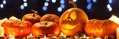 Pumpkin lanterns for Halloween Kuvituskuvat