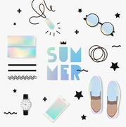 Summer trend of look Stock Illustration