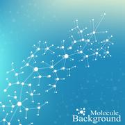 Structure molecule atom dna and communication background. Concept of neurons Stock Illustration