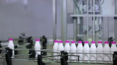 Industrial production of milk Stock Footage