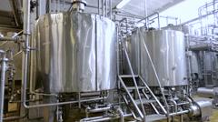 Tanks for milk fermentation Stock Footage