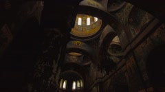 Interior of the Orthodox Church in the Caucasus Stock Footage