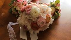 Big beautifull wedding bouqet close up Stock Footage