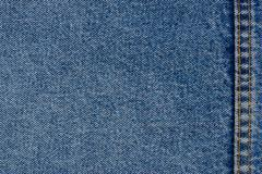 Jeans texture background with seams Stock Photos