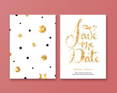 Invitation to celebrate with the gold in bulk. Stock Illustration