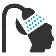 Open Mind Shower Flat Icon Stock Illustration