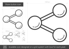 Share button line icon Stock Illustration