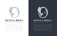 Luxury logo with a stylized letter O on  black background. Stock Illustration