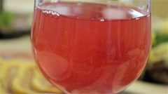 Drink with strawberries Stock Footage