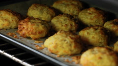 Oven Gorgeous Cutlets dish from cauliflower - meal at any time of the year Stock Footage