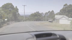 Driving front view car australia Stock Footage