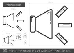 Volume on line icon Stock Illustration