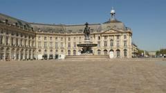 "Place de la Bourse and the ""Trois Grâces"" fountain Stock Footage"