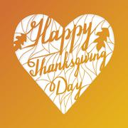 Thanksgiving laser cutting template Stock Illustration