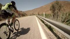 San Diego bike race pov 6 Stock Footage