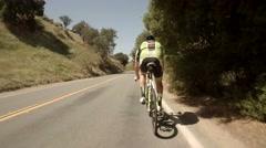 San Diego bike race pov 4 Stock Footage