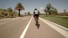 San Diego bike race pov 7 Stock Footage